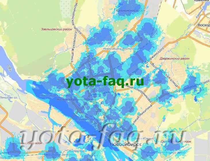 Yota готовит карту покрытия сети LTE в Новосибирске
