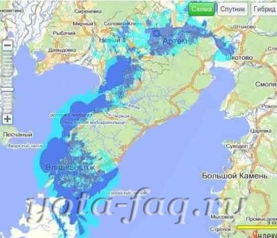 Yota во Владивостоке запустила сеть LTE