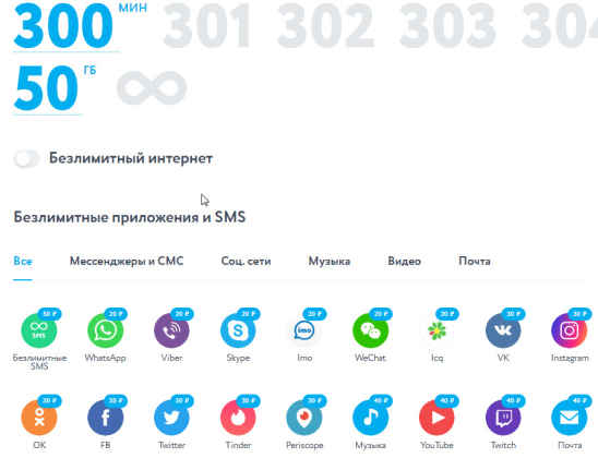 Тарифы Yota в городе Камешково для смартфона